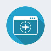 Airline concept flat icon