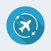 Airline concept symbol icon