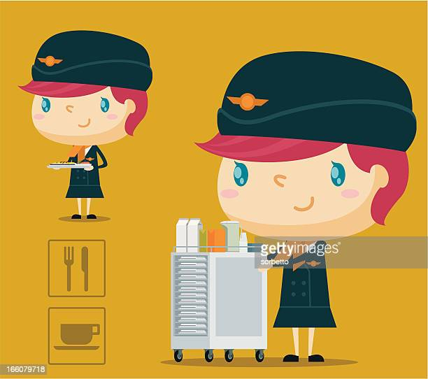 airline mahlzeit-service - social grace stock-grafiken, -clipart, -cartoons und -symbole