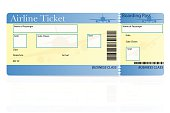airline ticket business class vector illustration