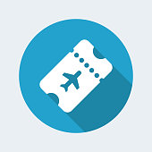 Airline ticket - Vector web icon
