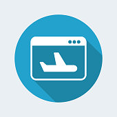 Airline web services icon