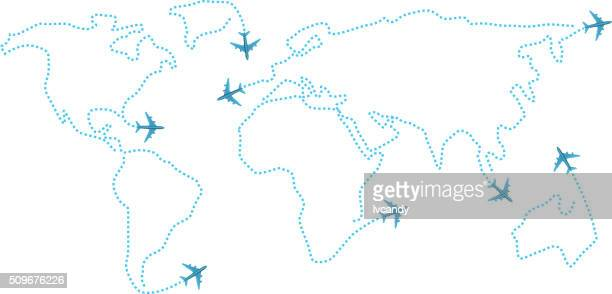 Airline world map
