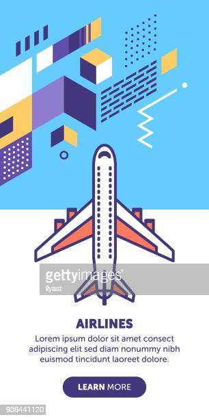 airlines banner - airport terminal stock illustrations, clip art, cartoons, & icons