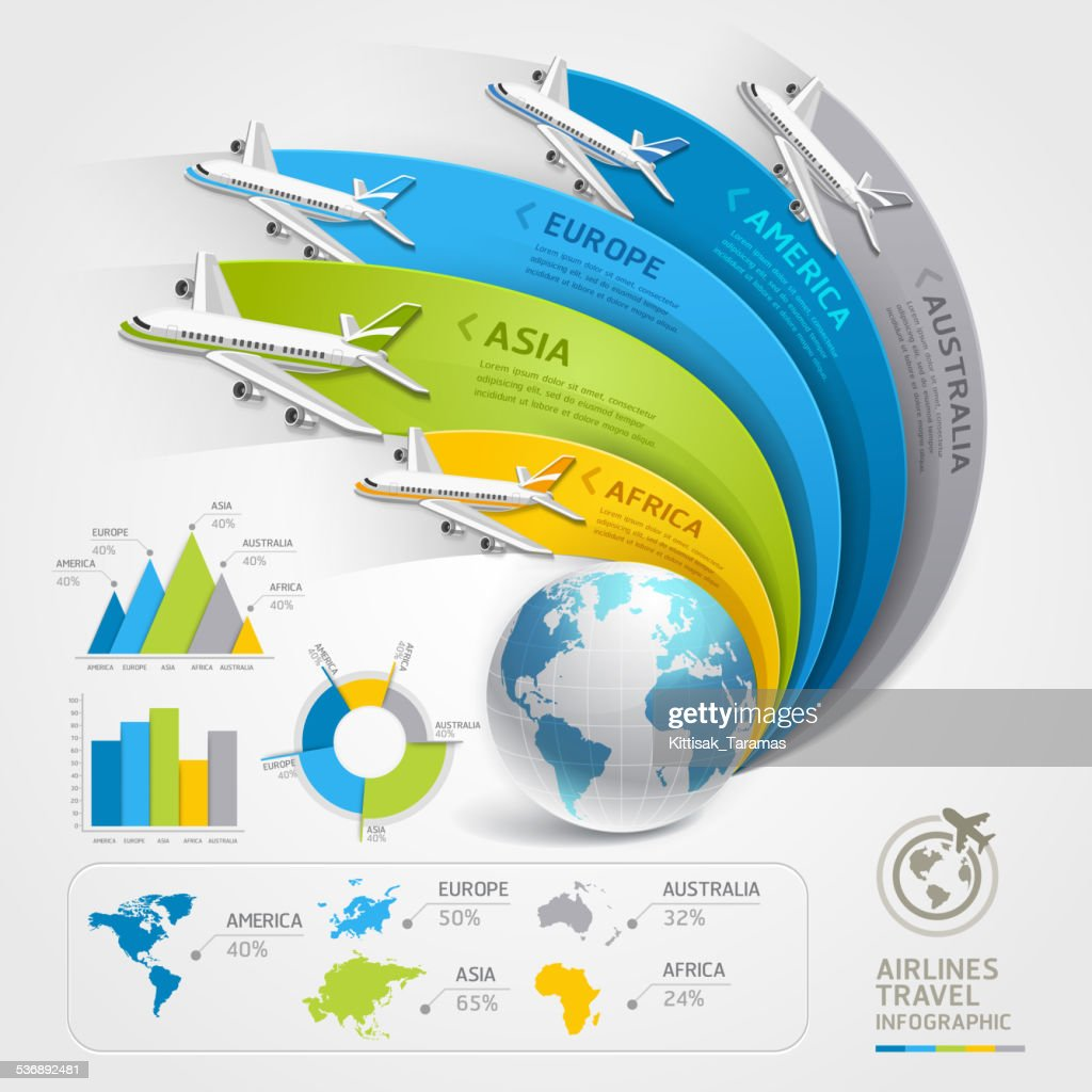 Airlines travel infographics.