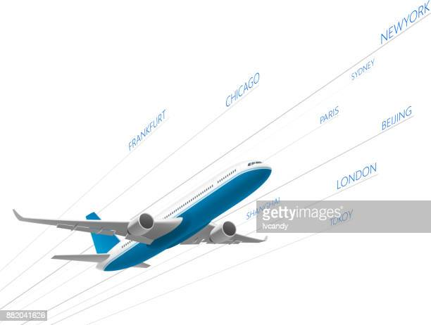 airplane ariline - aeroplane stock illustrations