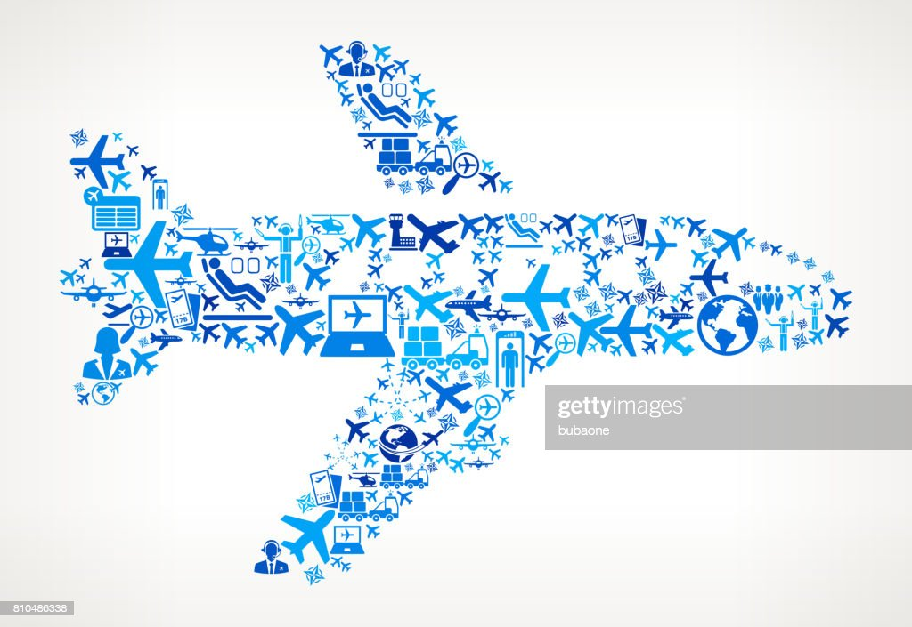 Airplane  Aviation and Air Planes Vector Graphic : stock illustration