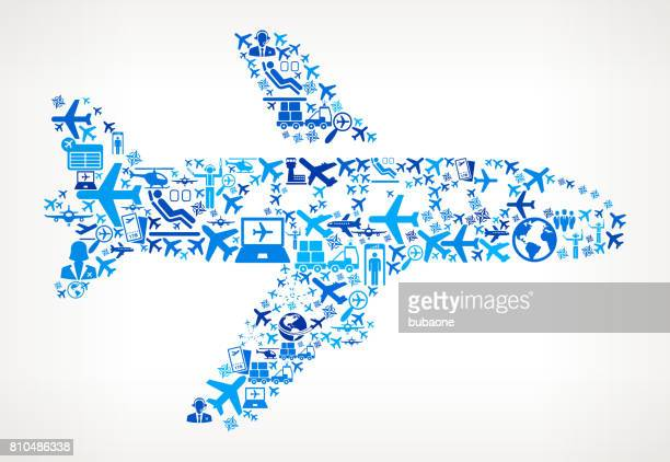 Airplane  Aviation and Air Planes Vector Graphic