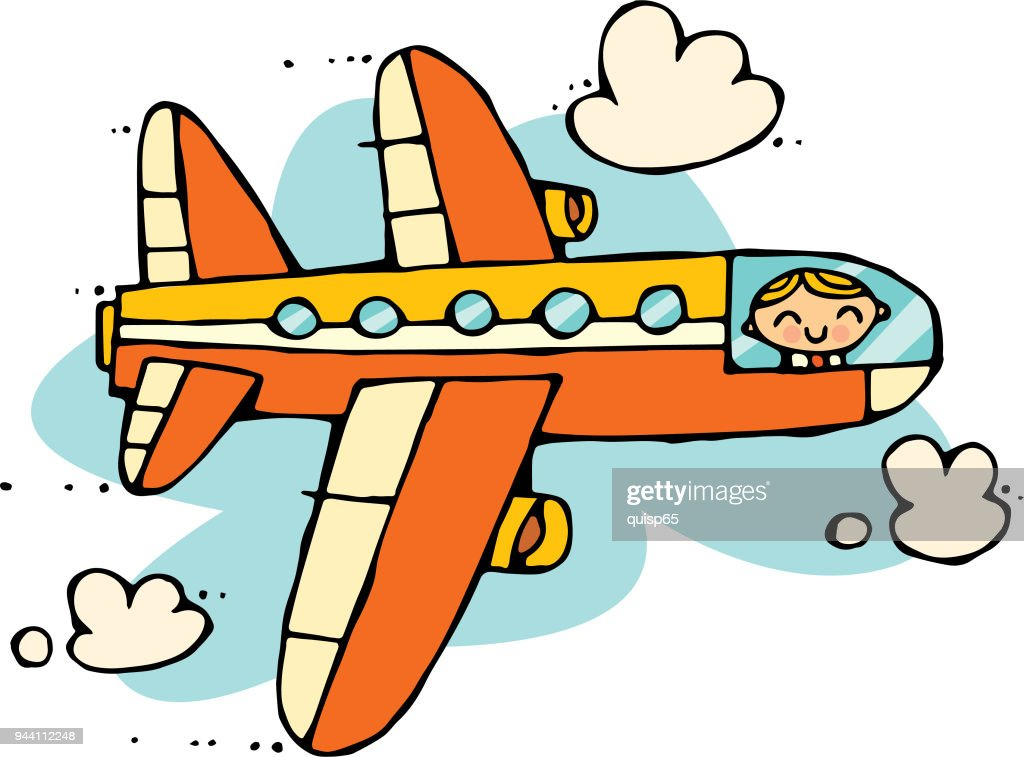 Airplane Cartoon High Res Vector Graphic Getty Images