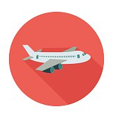 Airplane Colored Vector Illustration