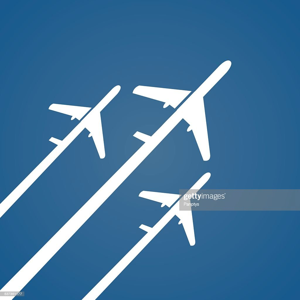 Airplane creative poster.