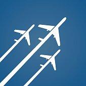 Airplane creative poster.