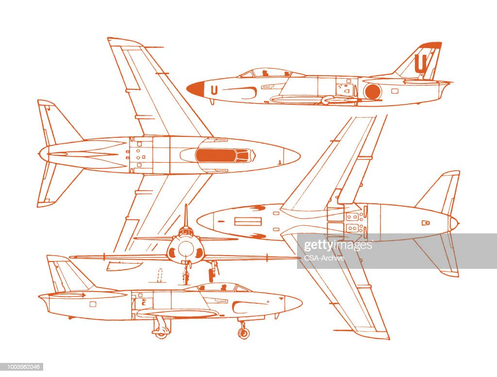 Airplane Diagram Vector Art Getty Images Plane Wing