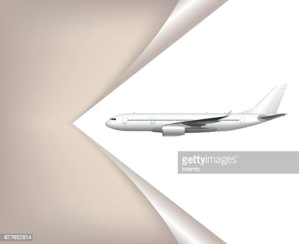 airplane flying - aircraft wing stock illustrations