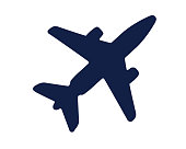 airplane glyph icon