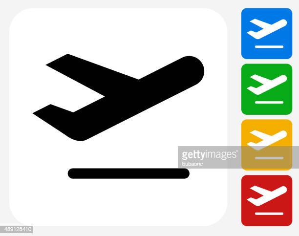 Airplane Icon Flat Graphic Design
