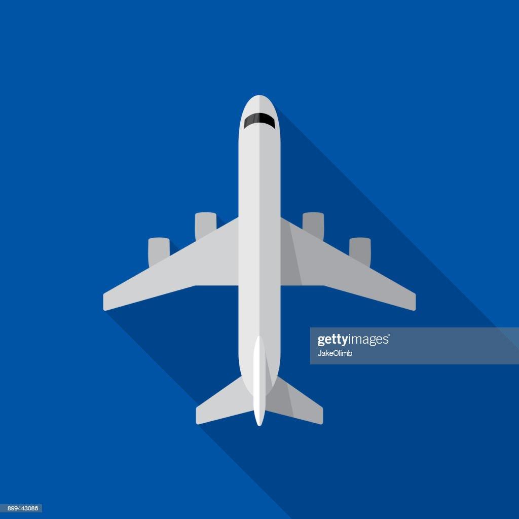 Airplane Icon Flat : stock illustration