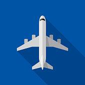 Airplane Icon Flat
