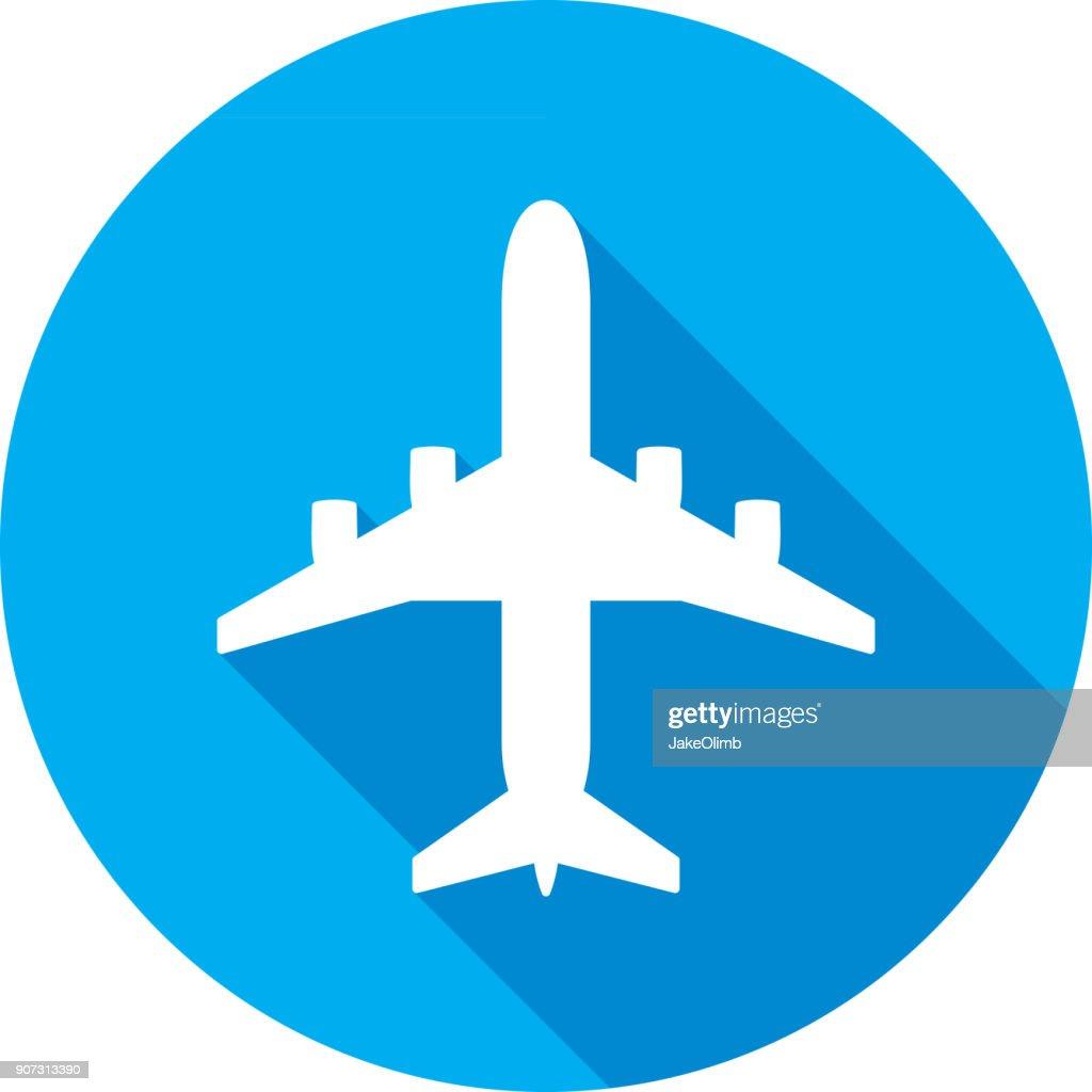 Airplane Icon Silhouette : stock illustration
