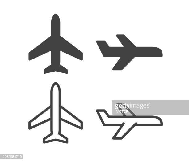飛行機 - イラストアイコン - 飛行機点のイラスト素材/クリップアート素材/マンガ素材/アイコン素材