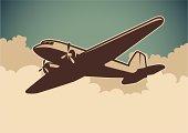 Airplane illustration.