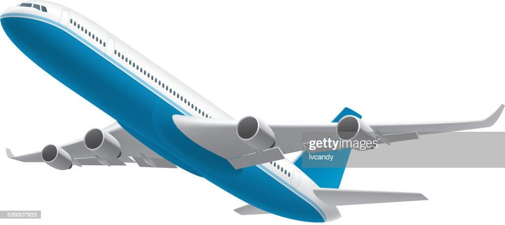 Airplane isolated on white : stock illustration