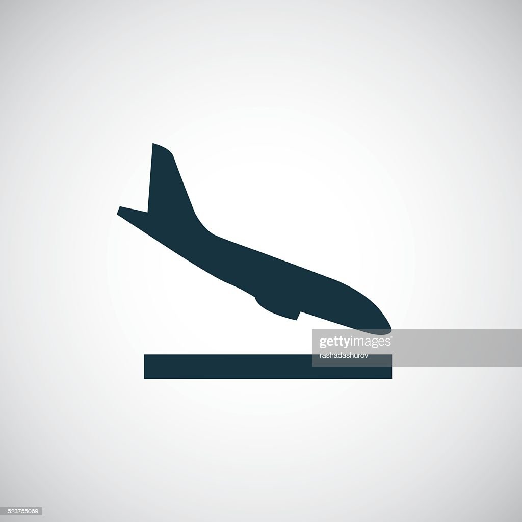 airplane landing icon