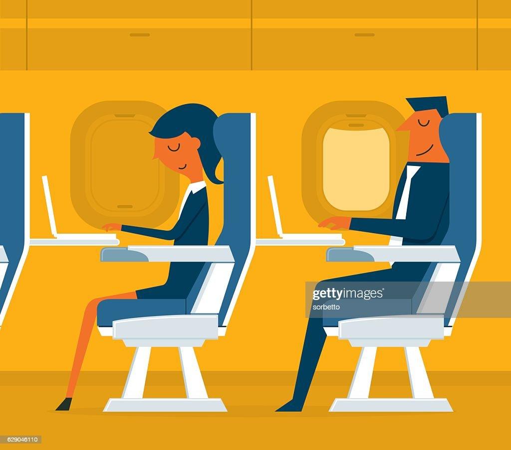 Avión de pasajeros : Ilustración de stock