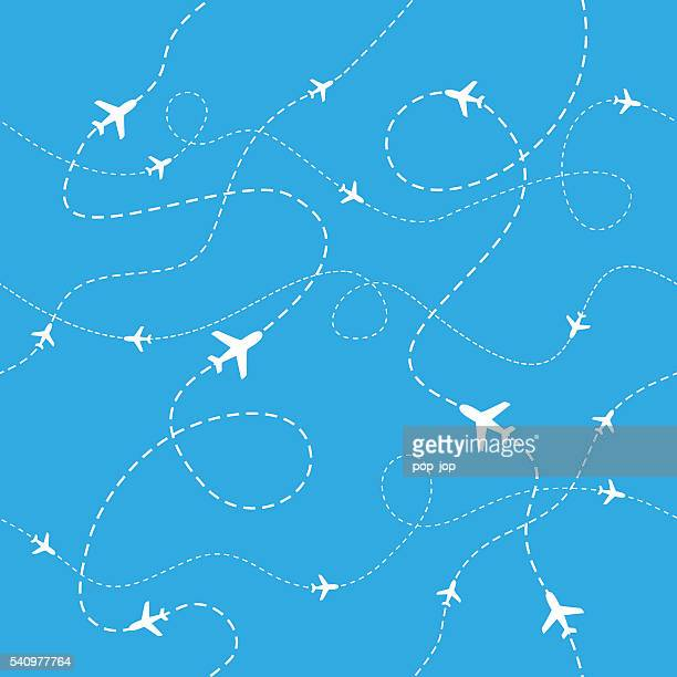 Airplane Pattern - Seamless - Illustration