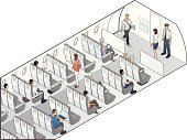 Airplane Seating Illustration