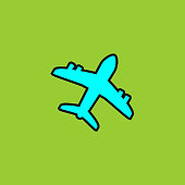 Airplane shape vektor icon