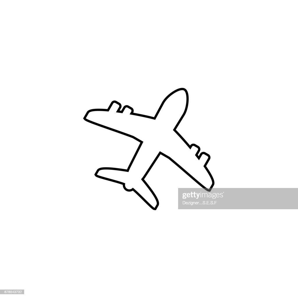 Airplane shape vektor icon