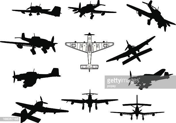 airplane silhouette - legal defense stock illustrations