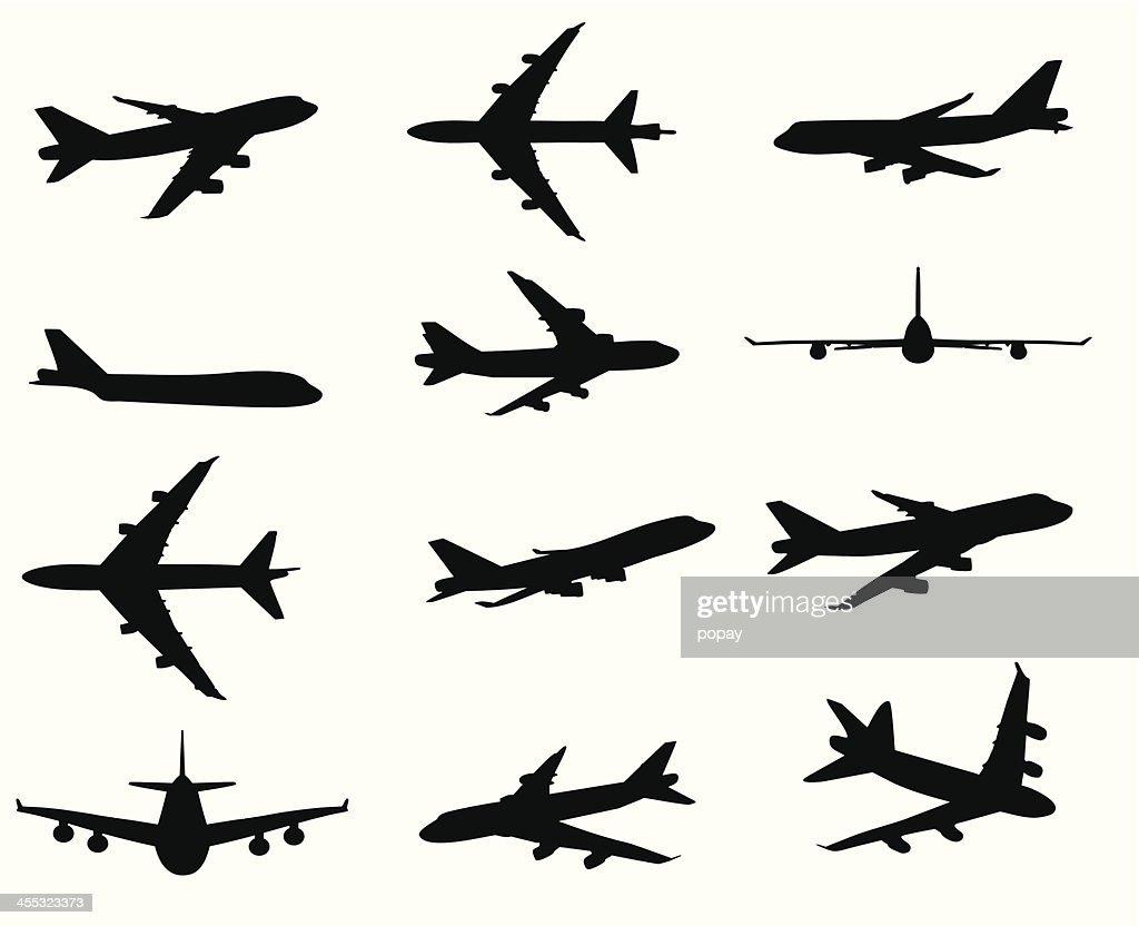 Airplane silhouette : stock illustration