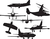 Airplane Silhouettes 3