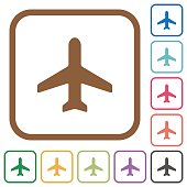 Airplane simple icons