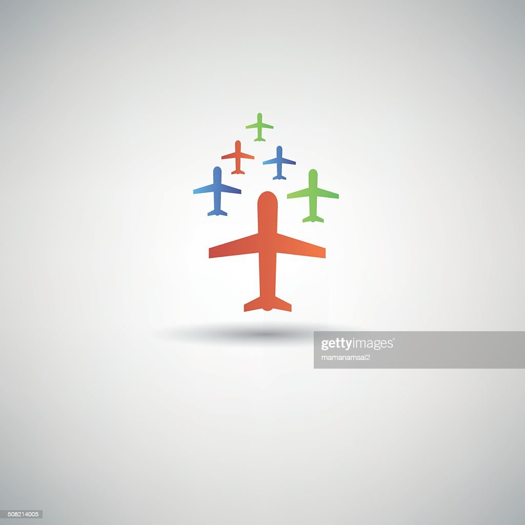 Airplane Symbolvector Vector Art Getty Images