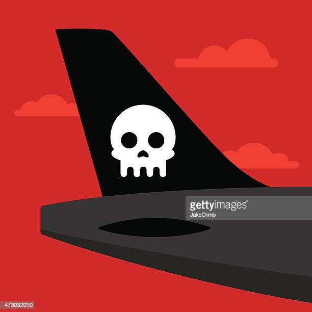 Cola del avión cráneo