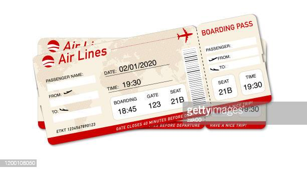 airplane ticket. boarding pass ticket template - id card template stock illustrations