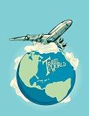 Airplane Travel Around the Globe