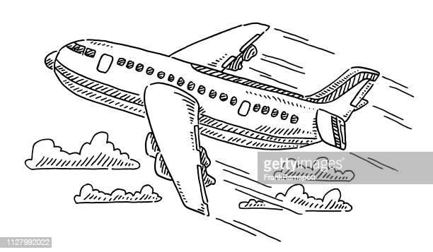 Flugzeug reisen Zeichnung