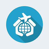 Airplane travel icon