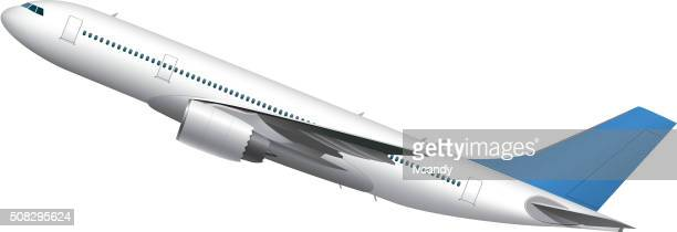 airplane - aircraft wing stock illustrations