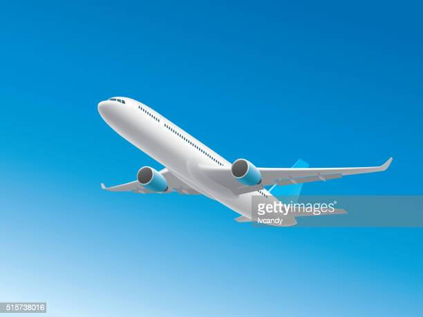 airplane - air travel stock illustrations, clip art, cartoons, & icons