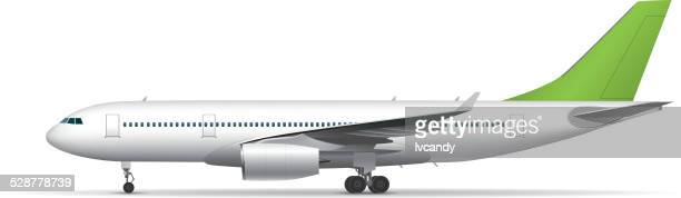 airplane - side view stock illustrations