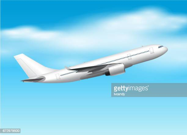 airplane - airplane tail stock illustrations