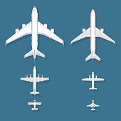 Airplane vector illustration top view plane and aircraft transportation travel way design journey object