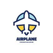 Airplane - vector logo concept illustration.