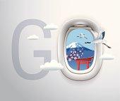 airplane window,Japan,mount fuji,the tori gate