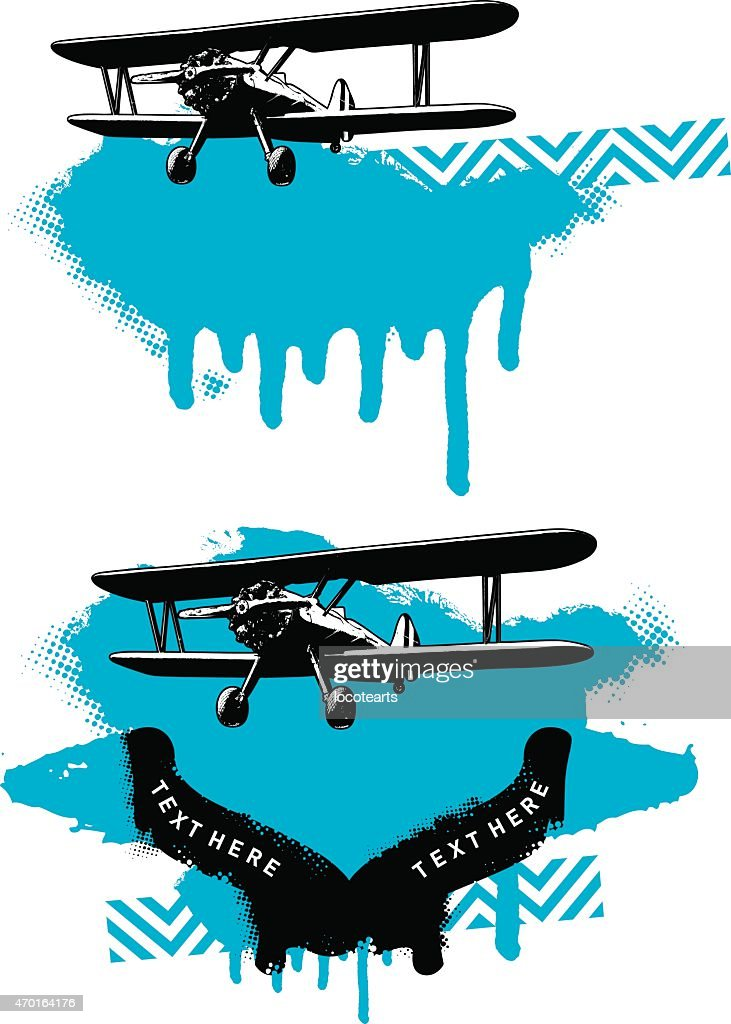 airplane with grunge background